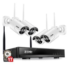 ZOSI 4CH CCTV System 960P NVR 4PCS 1.3 MP IR Outdoor P2P Wireless Wifi IP CCTV Camera Security System Surveillance Kit 1TB HDD(China)
