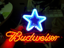 "Business NEON SIGN board For DALLAS COWBOYS Football Basketball Real GLASS Tube BEER BAR PUB Club Shop Light Display 17*14""(China)"