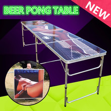 Sexy Girl Portable Folding Beer Pong Table Official Beer Pong Outdoor Aluminun Folding Beer Pong Table(China)