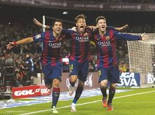 MSN - Lionel Messi Neymar Suarez Barcelona Football Silk Poster Art Bedroom Decoration 0679