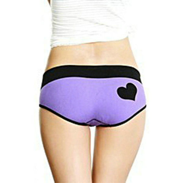 Sexy Womens Heart Pattern Underwear Seamless Briefs Panties Knickers Lingerie