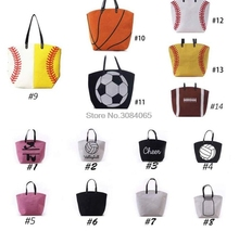 10pcs Canvas Bag Baseball Tote Sports Bags Casual Softball Bag Football Soccer Basketball Cotton Canvas Tote Bag