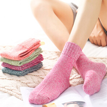 ZOCBBT 5 Pairs Rabbit Wool Solid Color Women Sock F Free Size Fashion Winter Girl Student Cute Keep Warm Soft Comfortable Socks(China)