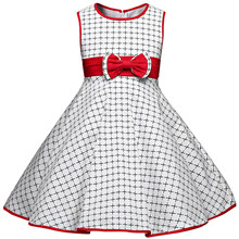 Summer Girls Dresses For Girl Party Wear 2017 Baby Plaid Prom Dress Children''s Girl Clothing New Designs Kids Clothes Vestido