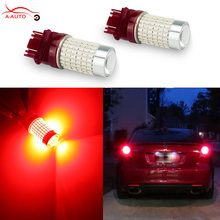 2 x 3157 3156 LED 144 SMD 3014 High Power T25 LED 1200LM Super Red Car Side Light Stop Tail Brake Up Reverse Tail Light Bulbs