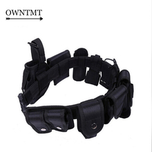 10 IN 1 SWAT Tactical Belt Military Army Fans Adjustable Belt Thicken Nylon Tactical Outdoor Multi-function Belt With 9 Bags(China)
