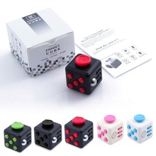Free DHL 50pcs/lot Mini Fidget Cube 11 Colours Desk Finger Toy Fun Stress Reliever Puzzle Magic Cube With Box