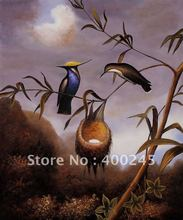 Animal oil painting Decorative painting Breasted Plovercrest by Martin Johnson Heade canvas 100%handmade Mesuem quality