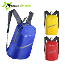 ROCKBROS Bike Leisure Outdoor Bike Bicycle Cycling Backpack Breathable Portable Folding Waterproof- Ultra-thin Bag 3 color