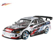 RC Car Drift For GTR Mitsubishi 4WD 2.4G 1/10 High Speed Racing Vehicles Radio Control Monster Truck BuggyElectronic Hobby Toy(China)