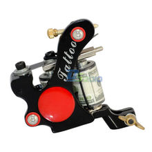 Tattoo Machine 10 Wrap Coils Gun Spring Shader Ink Cast Kit Set Power Supply Durable & Nice Design Tattoo Tool Accessories