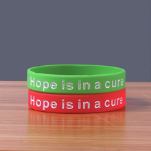 2 colors 50PCS/Lot Diabetes Awareness Hope is in A Cure Silicone bracelet China Soft round shape rubber band with debossed(China)