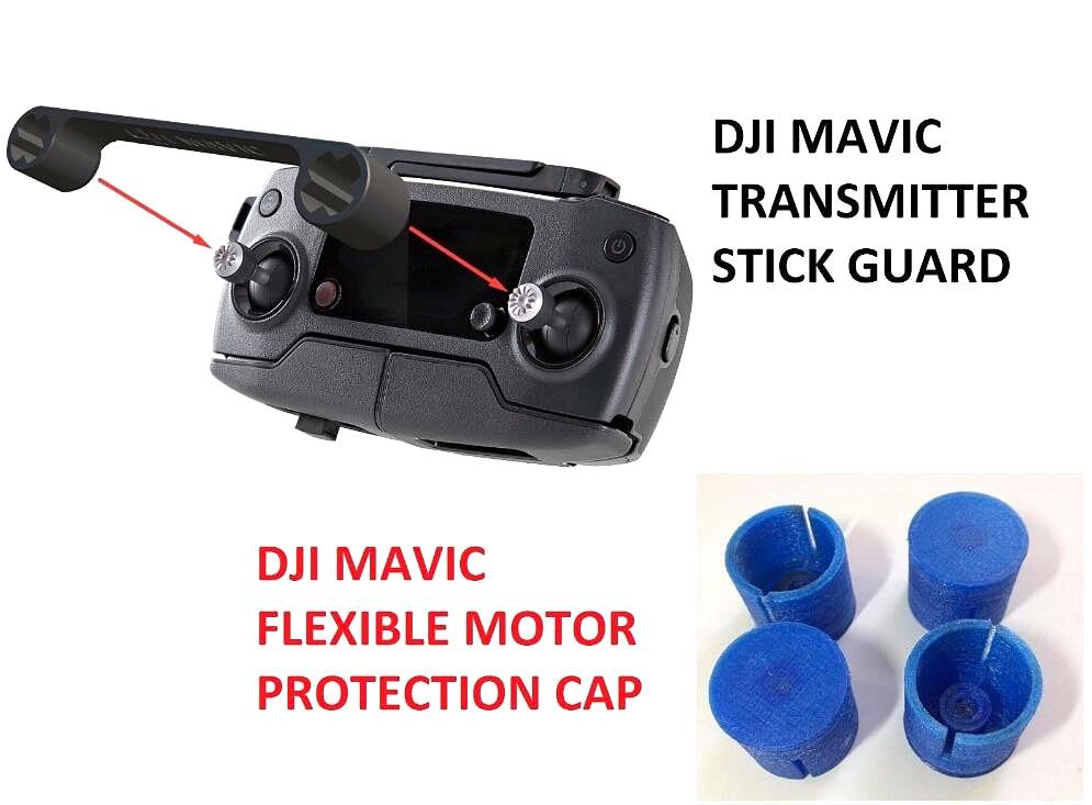 DJI MAVIC PRO - Transport Clip Controller Stick Thumb and TPU Motor Protection<br><br>Aliexpress