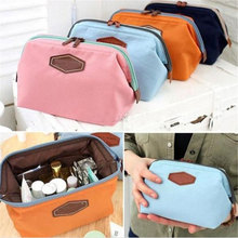 Korea Style Mini Storage Bag For Travel Practical Makeup Organizer Bag Holder Cosmetic Pouch Bags 4 Colors, Size 16x12cm