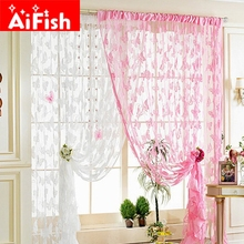 Hot Sale Muticolor Cheap Line Butterfly Yarn for Bedroom/Living Room String Kitchen 100cm*200cm Door Curtain Decoration AP241-20(China)