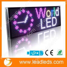 104x 40 x 9cm P10 Outdoor LED Sign Full Colors LED Lamp Edit Information LED Display Board Advertising Board For Business Store