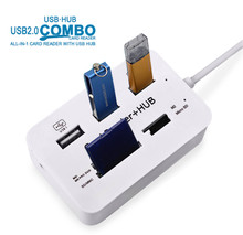 Multi Micro USB Hub 2.0 OTG Combo USB Splitter SD TF Card Reader Extension Port Hubs WH Cable Adapter For Computer Smart Phone