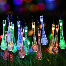 6M LED String Lights With Solar Panel Fairy Light 30LEDS Holiday Decoration Lamp Festival Christmas Lights Waterproof Outdoor