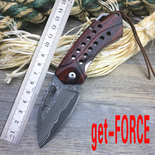 get-FORCE Damascus EDC Tactical Folding Knife,Collection Mini Folder Knife,Survival Pocket Knives Tools,Outdoor Camping Knive(China)