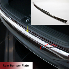 Stainless Steel External Rear Bumper Protector Plate Cover Exterior Tail Footplate Scuff Sill Guard Trim For Kia Sorento 2016(China)