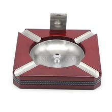 GALINER Metal Wood Cigar Cigarette Ashtray Removable Portable Ashtray For Car With Cigar Cutter Holder Ash Slot(China)