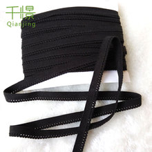 "10Yd Black Elastic Fancy Wavy Edge 1cm 3/8"" Ribbon/Trim/Sew/Craft Q324(China)"