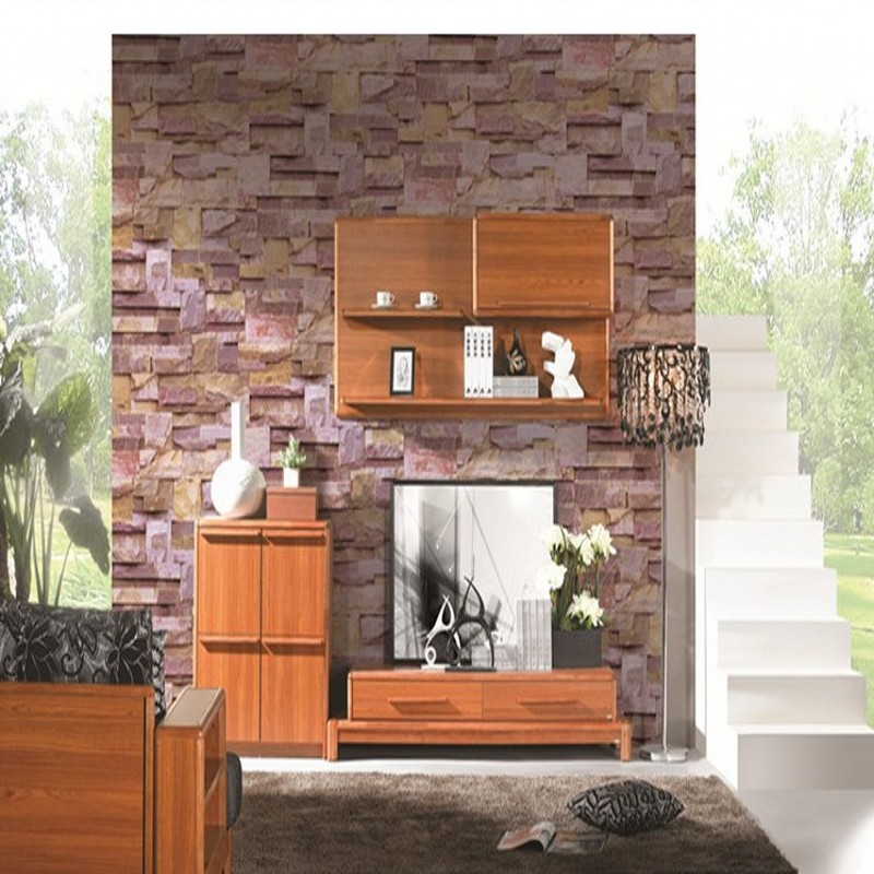 Free Shipping 3D stereo simulation marble slate wallpaper gravitational stone pattern living room kitchen wallpaper<br>