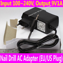 9V EU Plug AC Adapter for Nail Electric Drill Machine Nail Art Power Machine Manicure Pedicure Cuticle Removing Tools DC Power