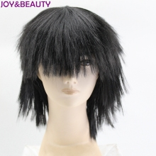 JOY&BEAUTY Black Colors Children's wig 20cm Synthetic Hair For Kids Children Cosplay Wig(China)