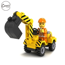 Kids Building Blocks Children DIY Assemble Engineering Excavator Self-Locking Bricks Models Boys Girls Learning Education Toys(China)