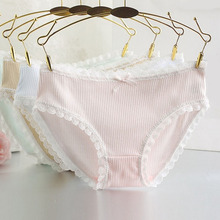 Buy Sexy Lace Cotton Women Underwear Solid Soft Low Waist Calcinha Lingerie Briefs Cute Simple Ladies Knickers Panties Underpants