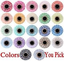 Free DHL 15 Spools (110yard/spool) Pick Colors Shimmer Glitter Craft Colored Divine Cotton 12 ply Bakers Twine String Cords Bulk(China)