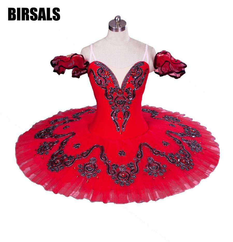 Red Don Quxote Professional Tutu Dress Girls Nutracker tutu Ballet CostumeBT8992C