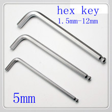 50 pcs/lot High Quality 5MM Hex Key Allen Wrench With Ball Tip(Ball Head Allen Wrench )