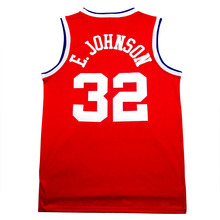 Cheap Earvin Johnson Jersey #32 Men's Johnson Basketball Jersey embroidered retro Youth Basketball Jersey, free shipping