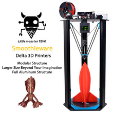 2017 Newest TEVO Delta Printing Area D340xH500mm OpenBuilds Extrusion/Smoothieware/MKS TFT28/Bltouch High Speed 3D Printer kits(China)