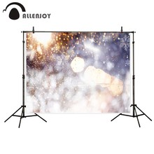 Allenjoy photography background  Glitter snowflakes winter Christmas Bokeh backdrop Photo background studio camera fotografica