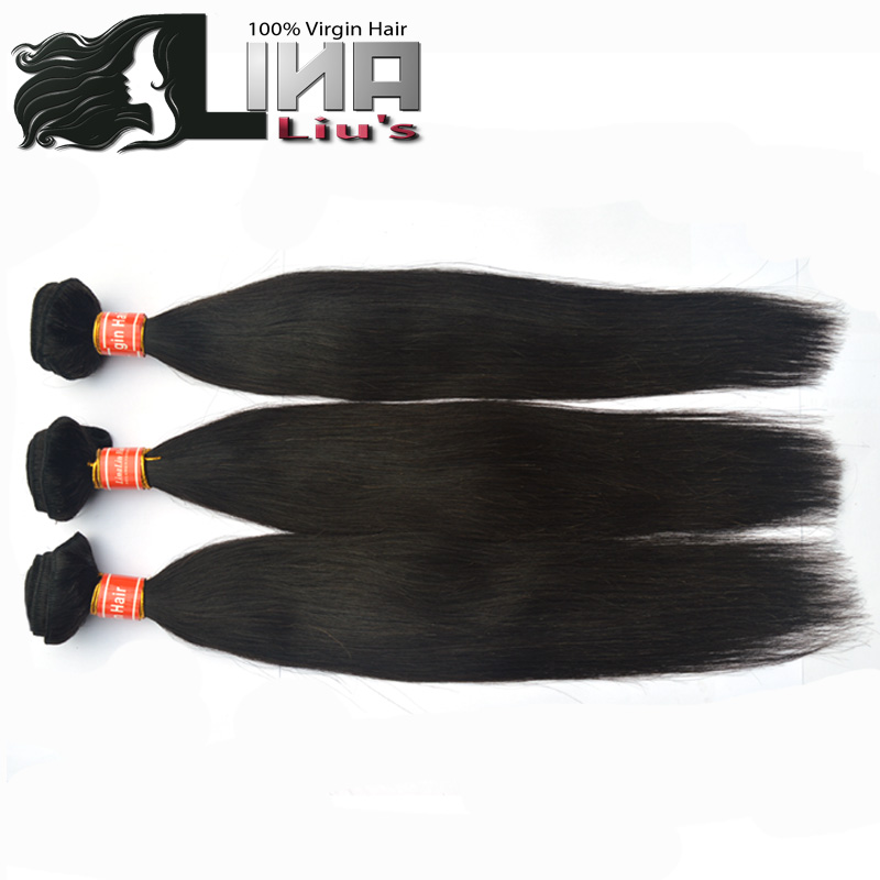 Lina Hair Products human hair weaves Malaysian virgin hair straight 3pcs/lot 12-30inch,natural color,DHL free shipping<br><br>Aliexpress