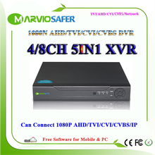 4ch 8ch 1080N HD AHD-NH/ 8 Channel TVI AHD CVI DVR TVR CVR AVR CCTV Camera Recorder Can Connect to AHD-H 1080P HDMI Output(China)