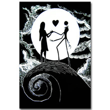 The Nightmare Before Christmas Art Silk Poster Print 13x20 24x36 inch Cartoon Movie Picture for Room Wall Decor Jack Sally 011