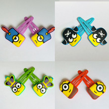 80PCS=20Sets  New Cartoon Lovely Despicable Me Minions Baby Hairpins Hair rope Set Girls Hair Accessories Children Party Gifts