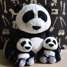 candice guo! New arrival super cute Nici simulational panda plush toy soft stuffed doll birthday gift 1pc(China)