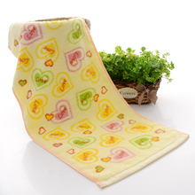2017 New 1pc Lower Price 34*74cm 100% Cotton Face Towel Heart Printed Hand Towel Plain dyed Washcloths Brand Soft Towels