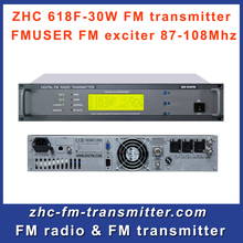 CZH618F 30W fm radio broadcast transmitter PLL stereo transmitter small fm radio staion equipment 87-108MHz(China)
