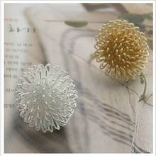 New Creative Rings Wholesale Fashion Personality Pure Love Dandelion Hair Group Rings Flower Ring