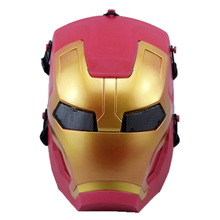 FREE SHIPPING FAMOUS MOVIES IRON MAN 3 SUPERHERO MASK ADULT COSTUME HELMET CS FIELD PROTECTIVE MASK MOVIE PROPS COSPLAY COOL TOY(China)