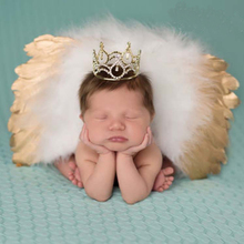 Boutique Baby Newborn Photography Props Infant Girls Angel Feather Wings Wing Set Costume + Headbands Kids Outfit Photo Prop 89(China)