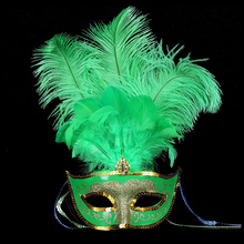 2016 new party masks masquerade masks Halloween color ball feather mask fashion men women sexy half face masked mask Christmas