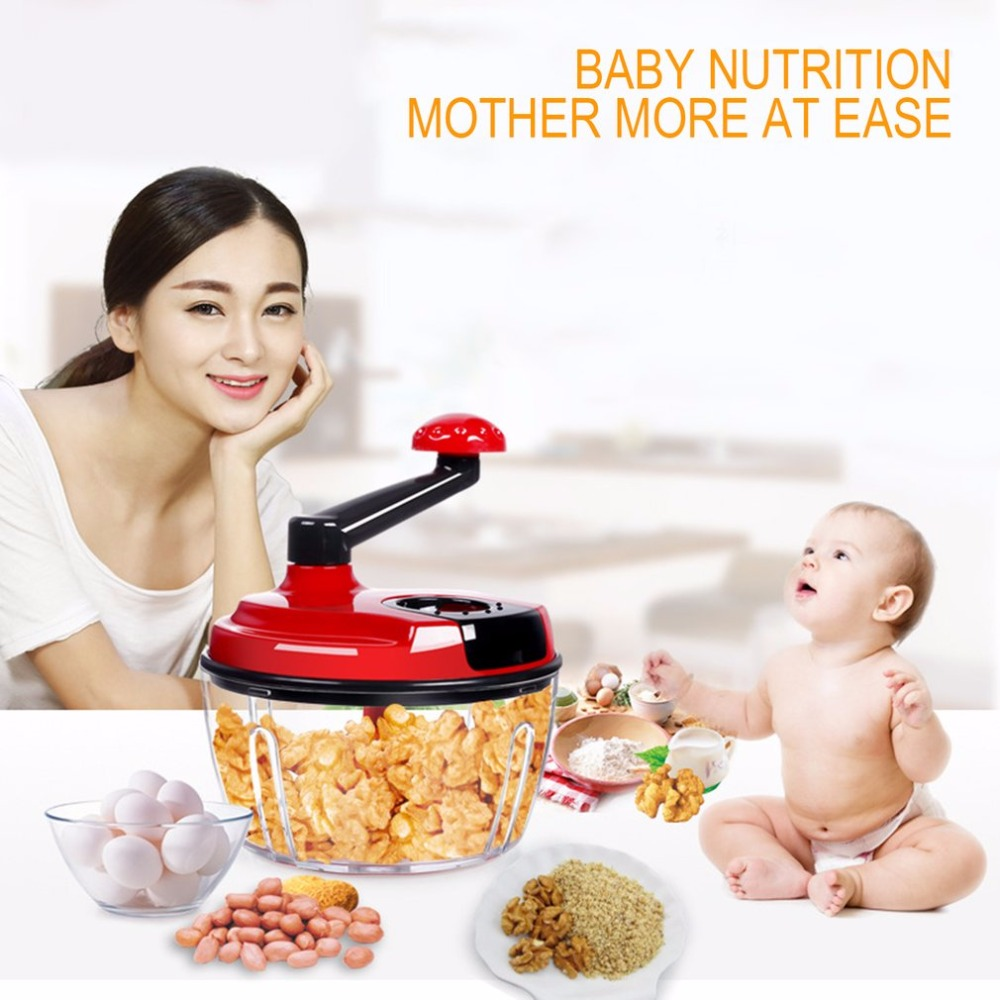 Hand-operated Meat Mincer Domestic Vegetable Slicer Stainless Steel Kitchen Tool Grinder Babu Food Cutter 2000ml Capacity Cutter<br>