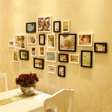 1x Creative Wood DIY Photo Frame Wall Picture Album Best Gifts Home Decor Multiple Colors 6 Size